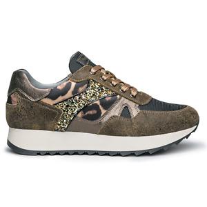 Scarpe sneakers Nero Giardini donna I013193D/510 militare listino € 129,50