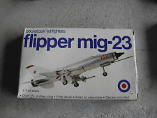 Vintage 1970s 1/144 Scale Entex Flipper MIG-23 Airplane Model Kit NIB