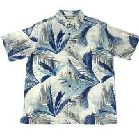 Island Republic Men's Hawaiian SILK Shirt Button Down Large Short Sleeve Floral
