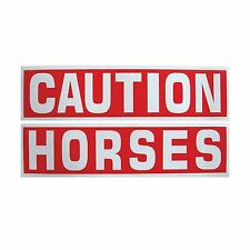 Intrepid International Caution Horse Reflective Sticker (2-Piece) Free Shipping