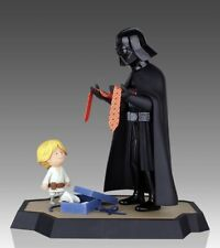 Star Wars Gentle Giant Statue Darth Vader & Son (Luke) Maquette with Book