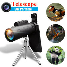 50X60 Zoom Optical Hd Lens Monocular Telescope + Tripod + Clip For Phone