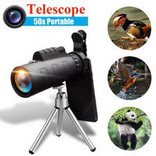 50X60 Zoom Optical HD Lens Monocular Telescope + Tripod + Clip For Phone  O