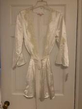 Oscar de la Renta SATIN Kimono Robe Medium Bridal Lingerie LACE NWT