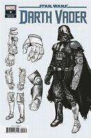 Star Wars Darth Vader #9  Marvel Comic Book Design Variant 2020 NM