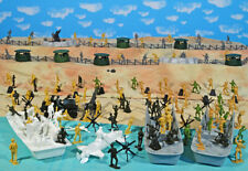 "WWII D-Day Playset #1 - ""Hit the Beach"" - 54mm Plastic Toy Soldiers"