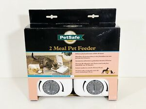 Petsafe 2 Meal Pet Feeder Programmable Up To 48 Hours (WHITE & GRAY)