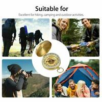 Pocket Brass Watch Style Outdoor Hiking Camping Navigation Ring Compass N7D0