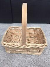 Weaved Easter Straw Basket Handle Decorative Flower Fruit Basket Decor Home