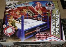 Wwe Collection_Tribute To The Troops Ring Playset with Spring-Loaded Mat_New_