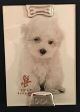 Pet Puppy Dog Metal Silver-tone Small Photo Picture Frame by Giftco 3.5 x 5 New