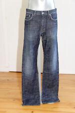 bonito jeans recto usado negro label HUGO BOSS texas talla W33 L34 NUEVO