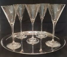 Grey Goose Martini Glasses Glass Vodka Cocktail Clear Etched 4 oz (5)