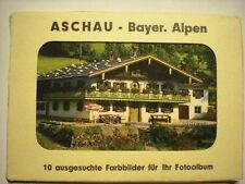 uraltes Leporello  ASCHAU-Bayer.Alpen  um 1960