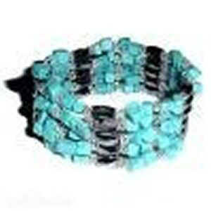 MAGNETIC WRAP JEWELLERY: TURQUOISE Free Post
