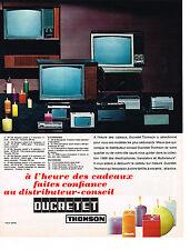 PUBLICITE ADVERTISING  1965   DUCRETET-THOMSON   PUBLICITE ADVERTISING