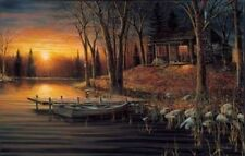 "Jim Hansel Simple Pleasures Cabin Lake Print Image 16"" x 12"""