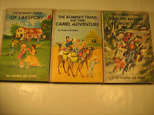 Hardcover (3) BOBBSEY TWINS... Snow Lodge, of Lakeport, Camel Adventure  [Y37]