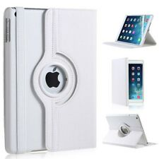 WHITE LEATHER 360 DEGREE ROTATING CASE COVER STAND FOR APPLE IPAD AIR IPAD 5