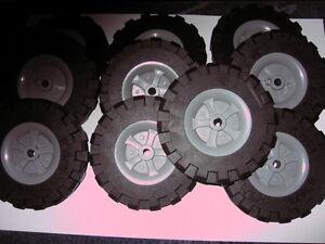 k'nex knex 10 large wheels, 9.5cm in diameter