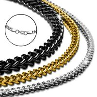 Königskette Halskette Panzerkette Herren Edelstahlkette viereckig Armband silber
