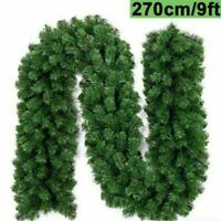 Artificial Pine GREEN Spruce Christmas Garland - 2.7 meters / 9ft x 28cm XMAS UK