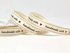 25 Metres - 16mm Handmade With Love Quality Ribbon for Cake Craft Cards Sweet 2 Metre