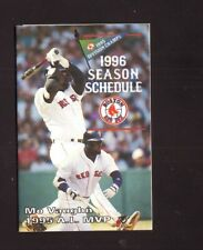 Mo Vaughn--1996 Boston Red Sox Pocket Schedule--Red Dog Beer