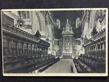 RP Vintage Postcard - London #P19  - St. Paul's Cathedral Choir - Photochrom