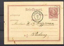 KLEINRONDSTEMPELS:WELTEVREDEN 9.9.1882 / PADANG 16.9.1882 op 5c BRIEFKAART In226
