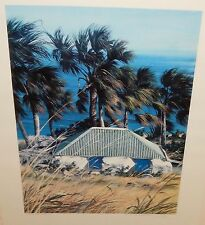 """STANISLAS DEFIZE """"CABRETTE A TOINY"""" SAINT BARTHELEMY LIMITED SIGNED LITHOGRAPH"""