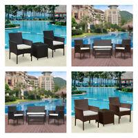 3/4Pcs Rattan Garden Furniture Set Table Chair Sofa Table Outdoor Patio Set Yard