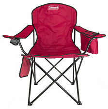 Coleman Folding Quad Chair With Built-In Cooler And Cup Holder, Red | 2000020264
