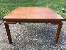 Mid Century Danish Modern Coffee Table Solid Teak Wood Round Square Vintage Mcm