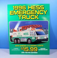 GET BY CHRISTMAS HESS EMERGENCY TRUCK 1996 BRAND NEW INSIDE BOX *ORDER BY 12//19