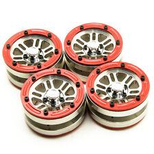 4x 1.9'' Alloy beadlock Wheels Rim for RC 1:10 Rock Crawler Car SCX10 CC01 D90