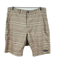 Mambo Mens Shorts Size 34 Striped Brown Great Condition Casual Shorts