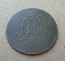 """TOKEN 1800 Dated English Penny Love Token """"CCJM"""""""
