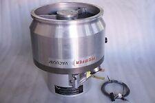 PFEIFFER VACUUM TURBO MOLECULAR PUMP TPH 2101 U P, TC750 CONTROLLER WORKING