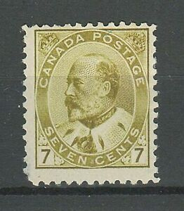 Canada 1903 ☀ 7 Cent Sc#92 - $220 ☀ MNG