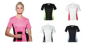 Ladies Gamegear V Neck Cooltex Sports Short Sleeve Gym Top KK967