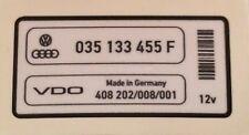 VW IDLE STABILISATION VALVE STICKER MK2 16V GOLF JETTA 8V ISV 035 133 455 F GTI