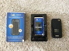 5 X SOL Solar 2400mAh Power bank case backup Charger battery for iPhone 4s & 5