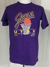Vintage Utah Jazz NBA Purple Shirt Salem Sportswear Men's Large