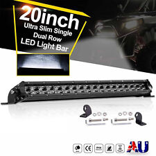 "Slim 20Inch LED Light Bar Spot Flood Combo Dual Row Driving Offroad Truck 21""22"""