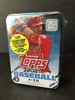 2021 Topps Series 1 MLB Baseball Mike Trout Collector's Tin Box Factory Sealed