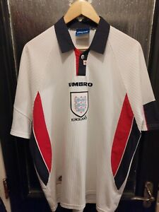 Authentic 1997-1999 England Home Shirt World Cup 98 XL Men's VGC