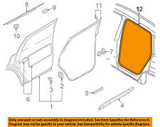 AUDI OEM 07-15 Q7 Rear Door-Weatherstrip Seal on Body 4L0833721A