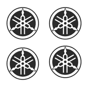 X4 YAMAHA logo Decals Motorbike Stickers R1 R6 Motorcycle Tank Fairing Helmet WR