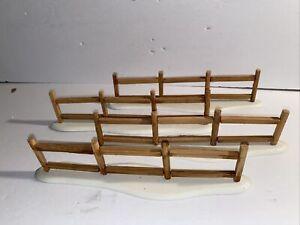 Department 56 - Split Rail Fence Set of Four  Village Accessories  #52597 No Box